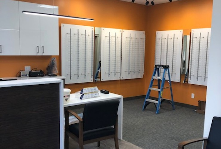 Allin Eye Clinic Eyewear Frames Display